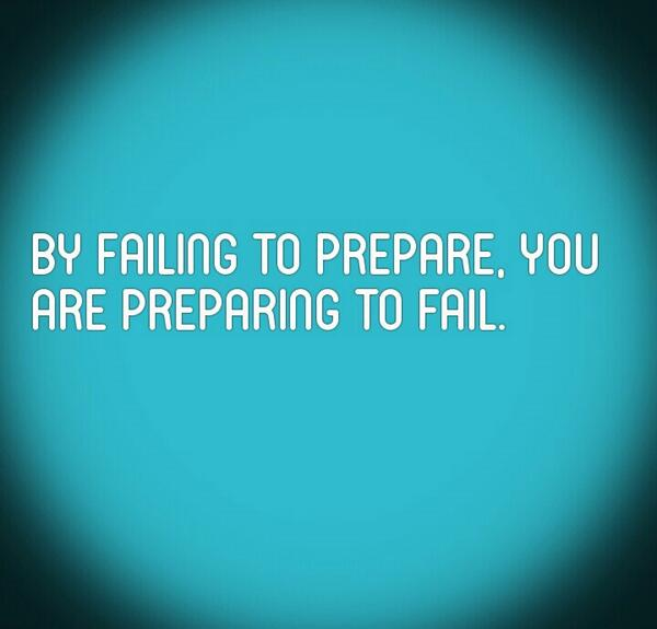 By failing to prepare….