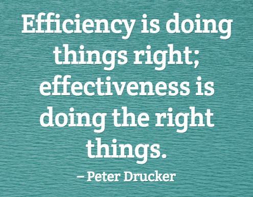 Efficiency vs. Effectiveness http://t.co/fLwf131Ao…