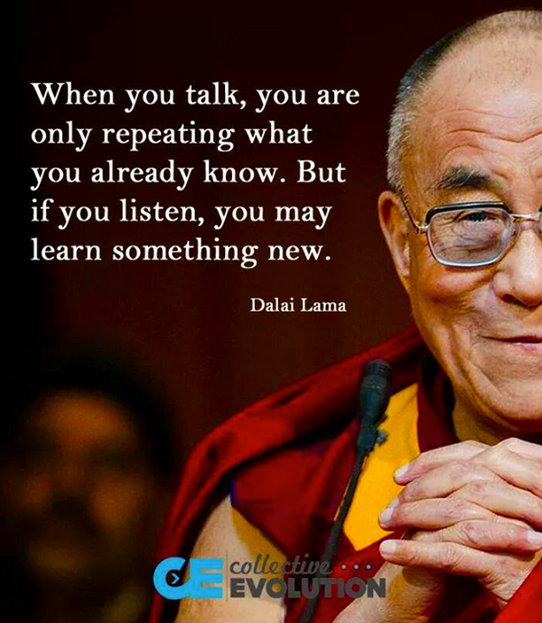 RT @Mixergy: When you talk, you're only repeating…